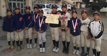 第86回柏市南部少年野球大会旧代表チーム3位!!